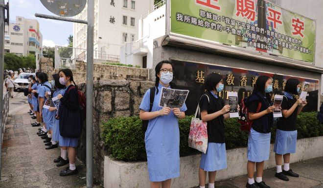 Defiant Hong Kong school pupils ignore education chief's warning over national security law protests