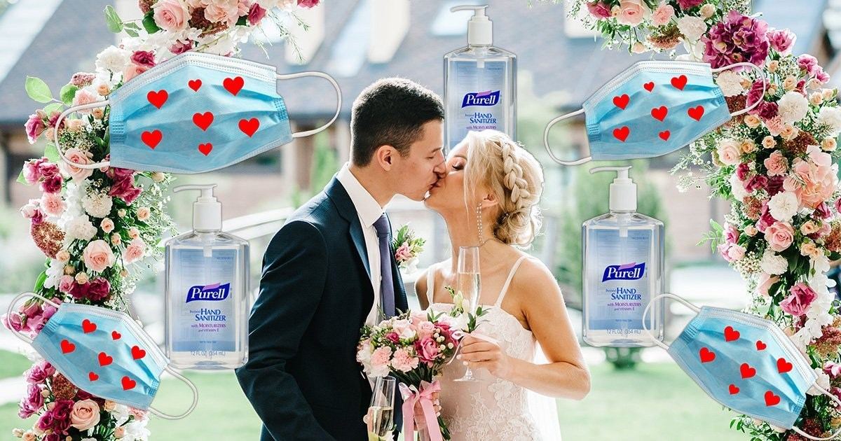 The future of weddings is sanitisers as favours, themed masks and gloves, and no more buffets