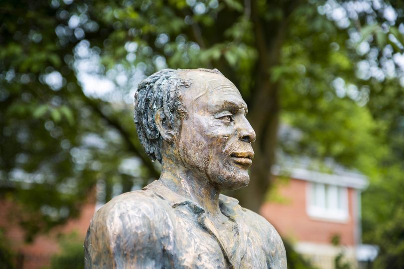 Thugs spray bleach on statue of black playwright and actor as investigation launched