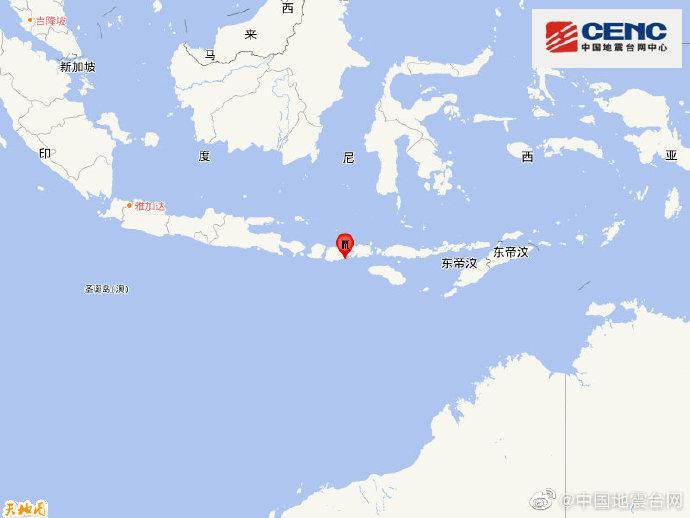 印尼松巴哇岛地区发生5.1级地震