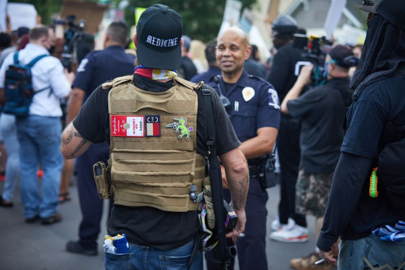 The violent extremist threat That's growing during nationwide protests