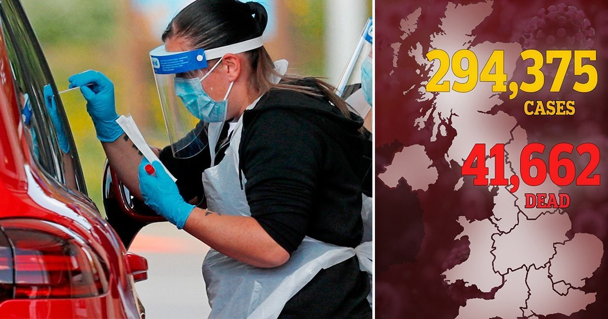 UK coronavirus death toll hits 41,662 after another 181 die