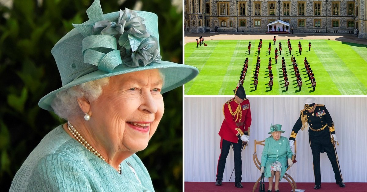 Queen celebrates official birthday with socially distanced military tribute
