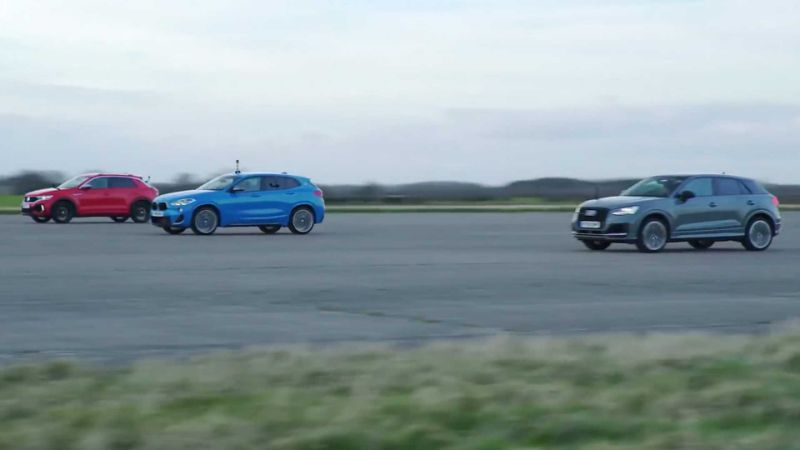 VW T-Roc R, Audi SQ2, BMW X2 M35i drag race is too close to call