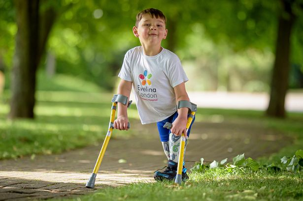 Boy, 5, who lost legs as baby set to raise £500,000 for hospital that saved him