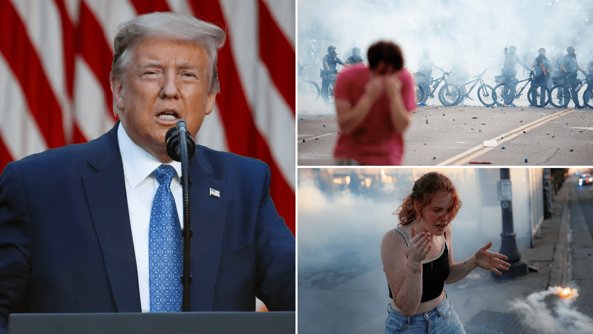 Donald Trump said George Floyd protesters getting tear-gassed was 'beautiful scene'