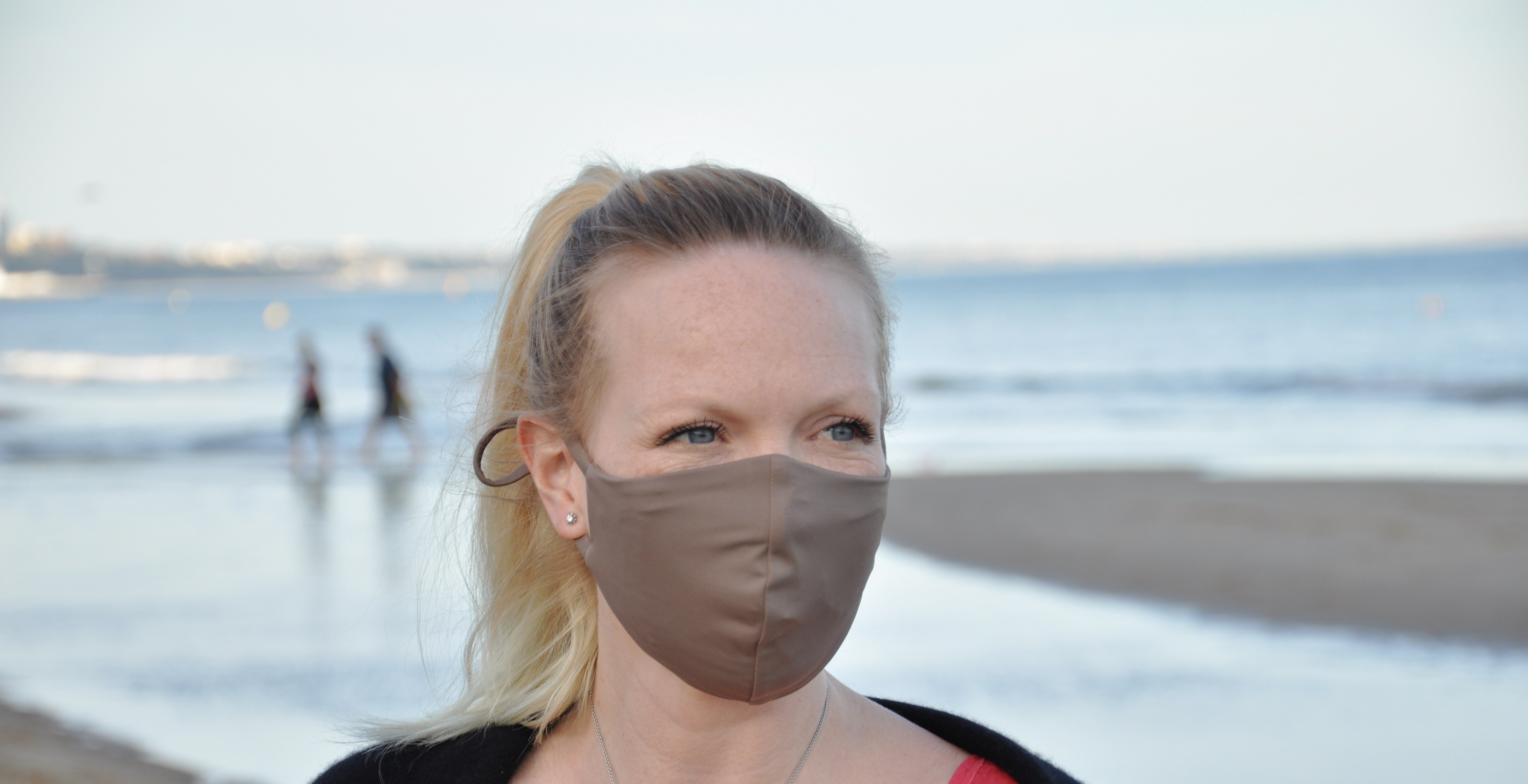 Woman creates face masks from old fish nets
