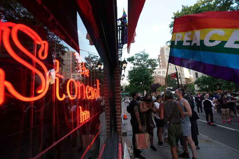 'Our supreme court did something': iconic New York bar celebrates transgender ruling