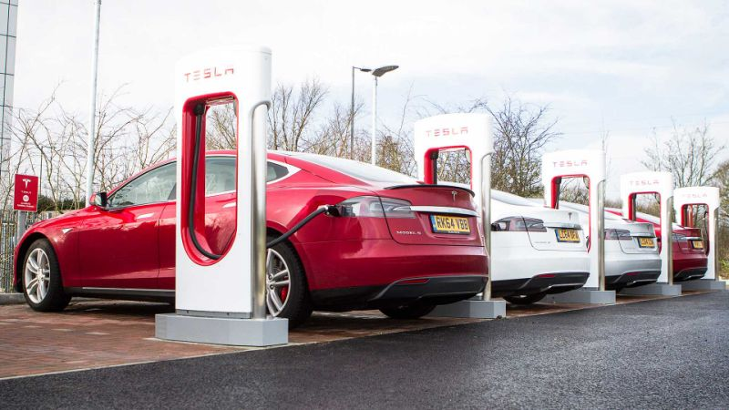 Electric car charging points now twice as numerous as petrol stations