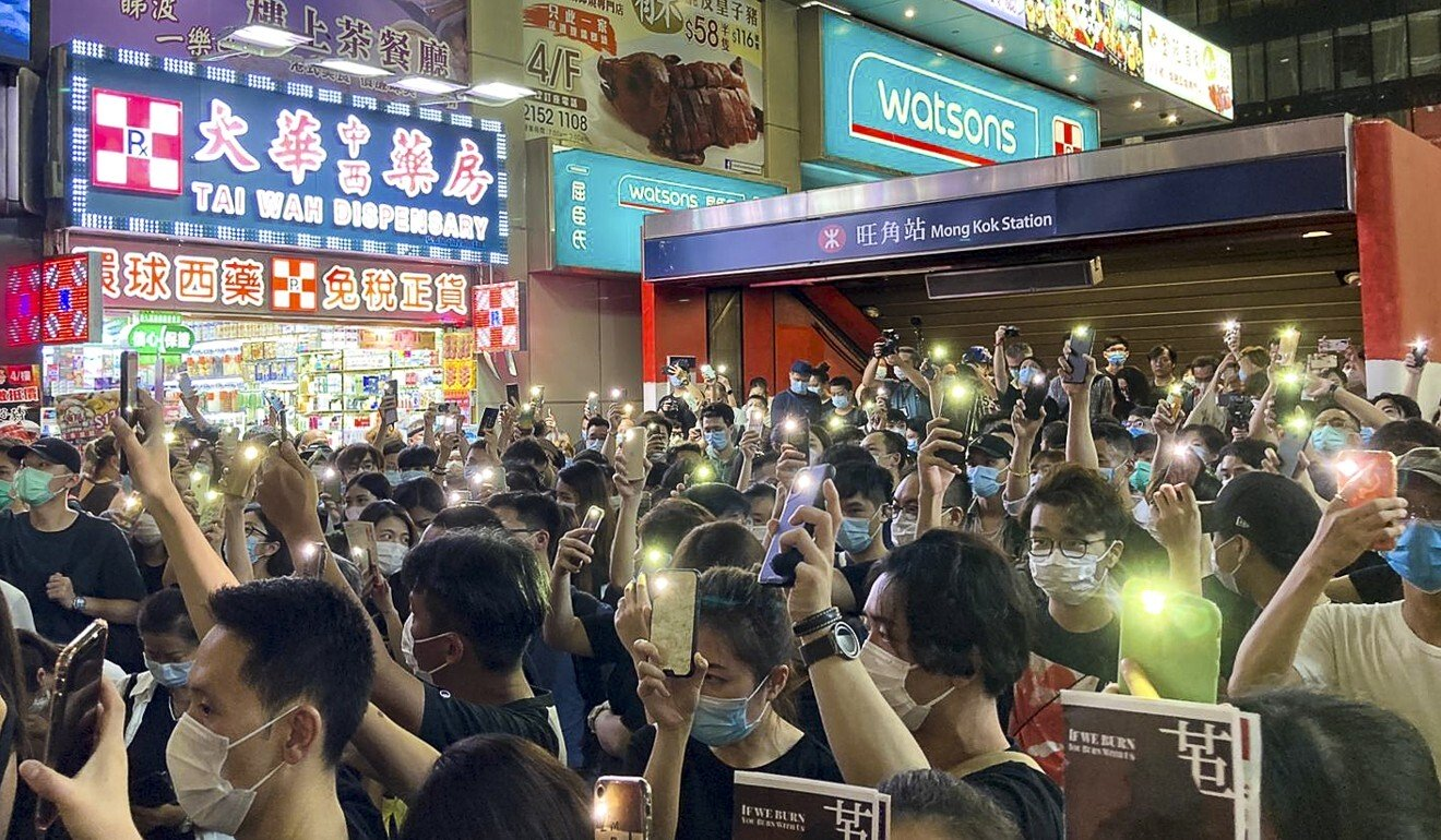 Hong Kong protests: police force reprimands officer who chanted 'I can't breathe' during rally