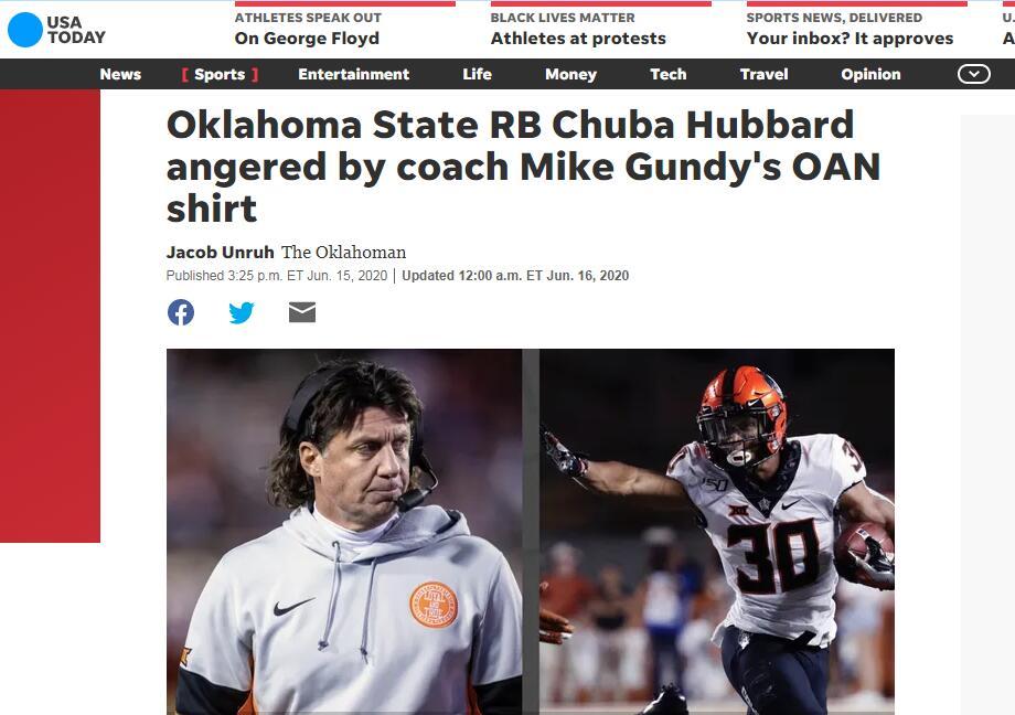 美大学一教练穿印有亲特朗普媒体logoT恤惹争议,球员不满:无法容忍