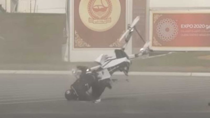 Watch this manned electric hoverbike fall from sky and crash