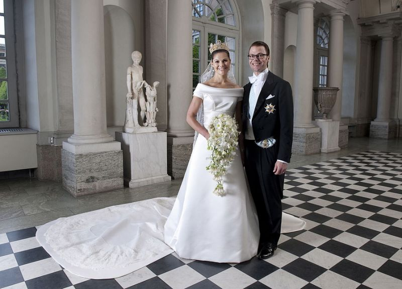 Crown Princess Victoria of Sweden celebrates a decade of marriage with glamorous photo shoot in H&M dress