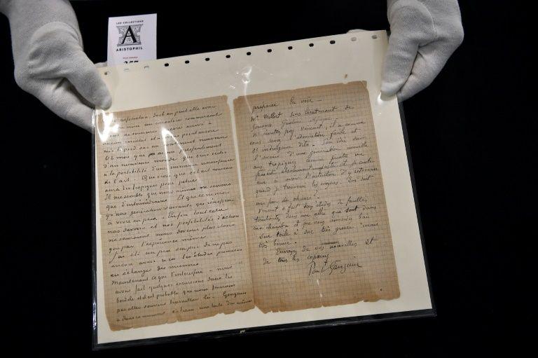 Van gogh, gauguin brothel letter sells for 210,000 euros