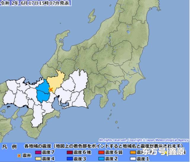 日本岐阜县发生4.2级浅层地震,深度仅为10公里暂无海啸威胁