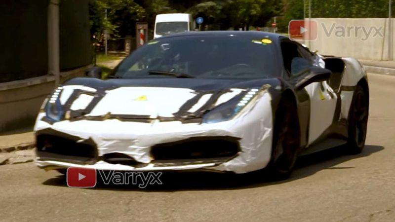 Ferrari hybrid test mule spied in Maranello by Motor1.com reader