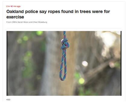 湖边树上挂绳子?加州警方很担忧:怕是和它有关!