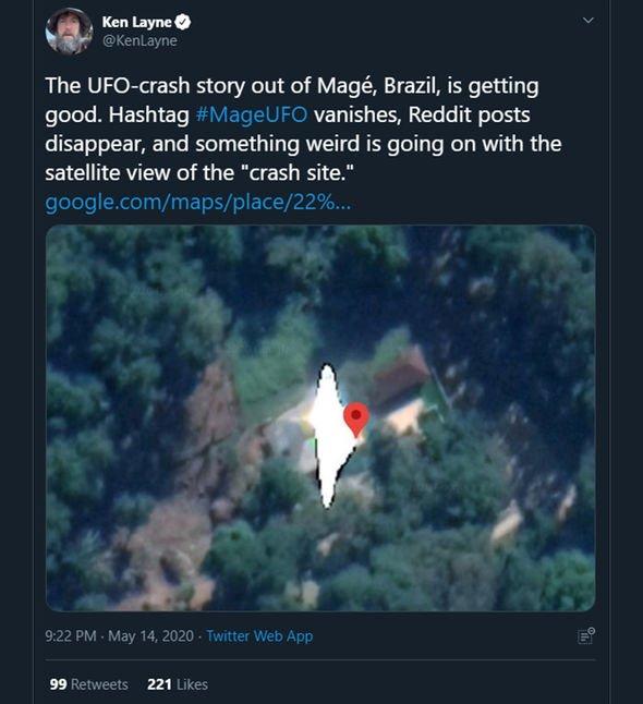 Brazil UFO: Investigation into 'alien crash' reveals TRUTH behind viral Mage UFO footage