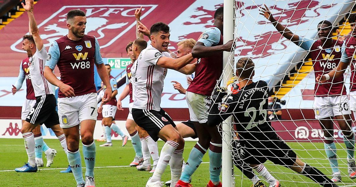 Sheffield United robbed as goalline technology fails and Aston Villa claim draw on Premier League return