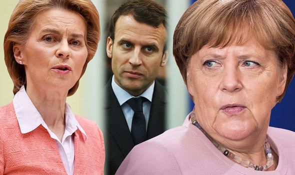 EU FURY: Macron unleashes new Brexit threat in bid to force through €750billion bailout