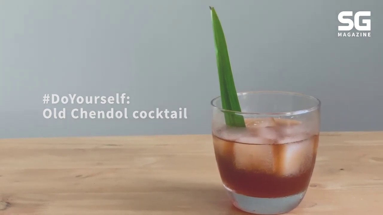 Concocting an Old Chendol cocktail using Singapore-made gin