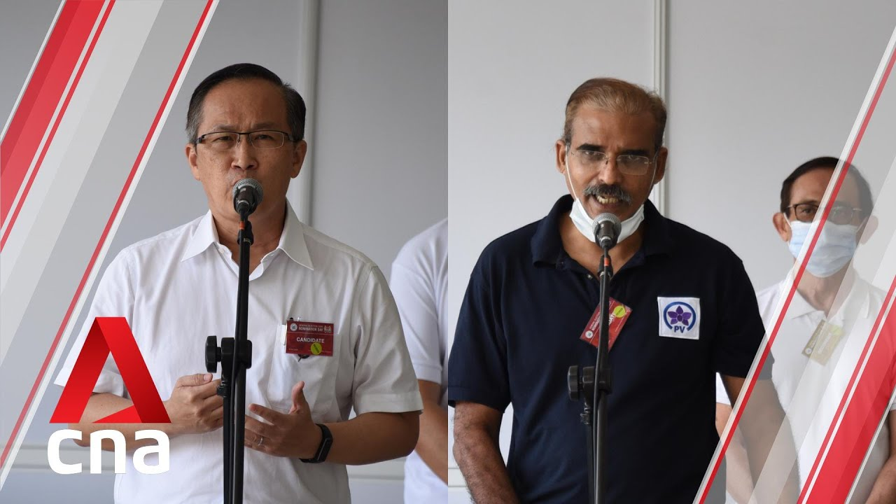 GE2020: PAP, PV candidates for Mountbatten SMC address supporters on Nomination Day