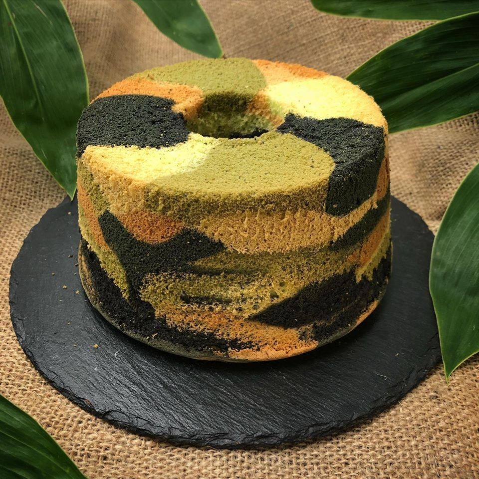 Local bakery comes up with camo cake for SAF day