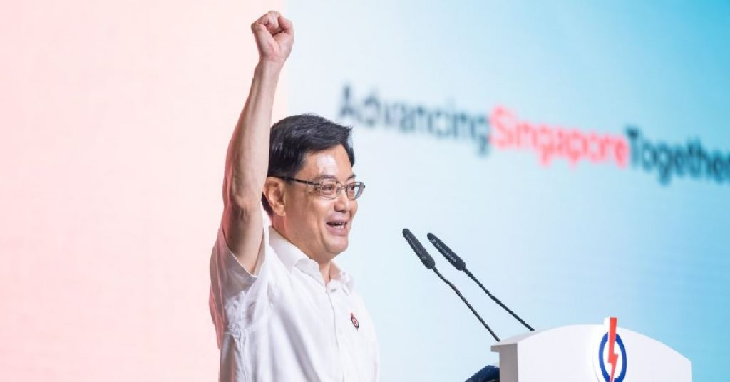 """Heng swee keat gives puzzling speech, keeps repeating """"east coast"""""""