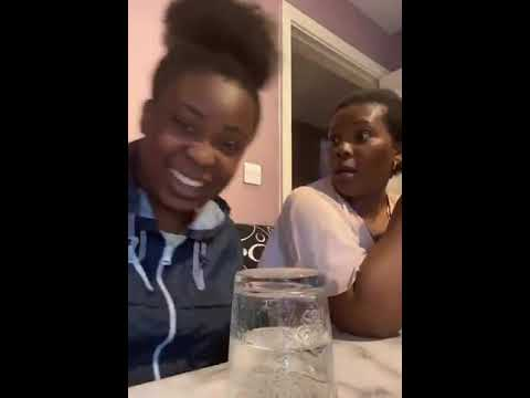 Daughter Pranks Mom By Turning Over Glass Full of Water on Table