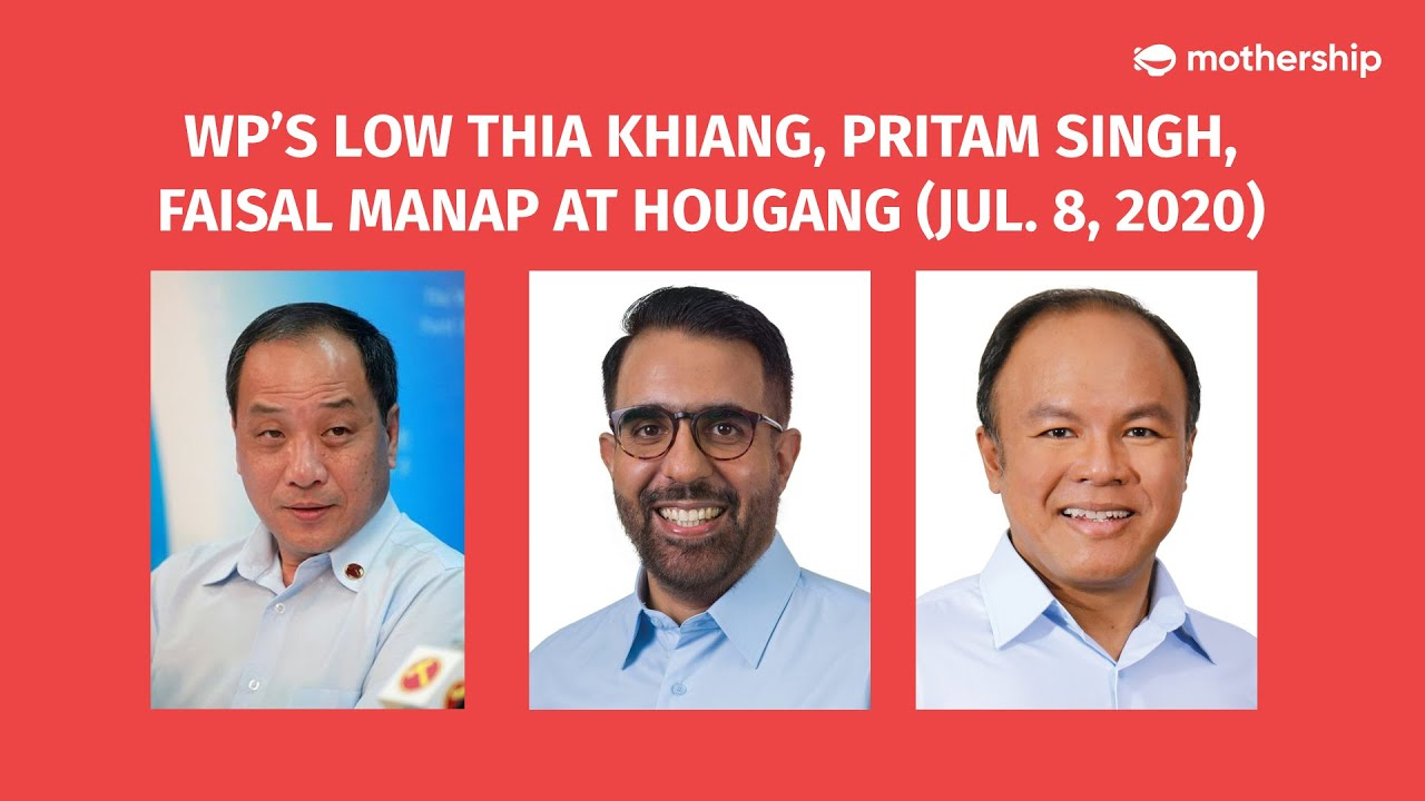 GE2020 LIVE: WP's Low Thia Khiang, Pritam Singh, Faisal Manap on a walkabout at Hougang (Jul. 8)