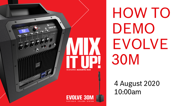 You Are Invited to Electro-Voice EVOLVE 30M Webinar