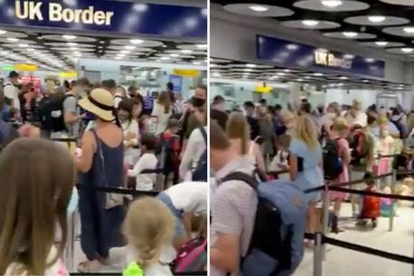 """Heathrow chaos as travellers queue for hours at border and chant """"get more staff"""""""