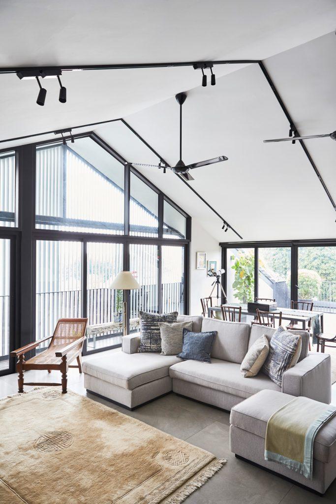 A hidden tropical home with wabi-sabi aesthetics