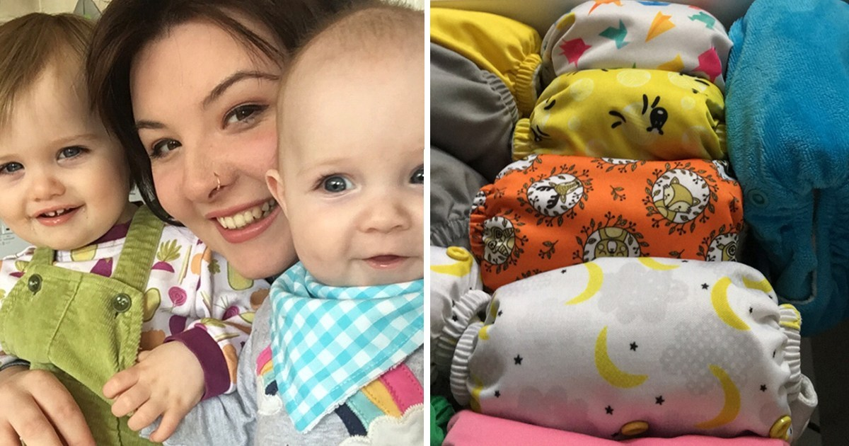 Mum working to make her home plastic-free has saved £1,500 by switching to reusable nappies