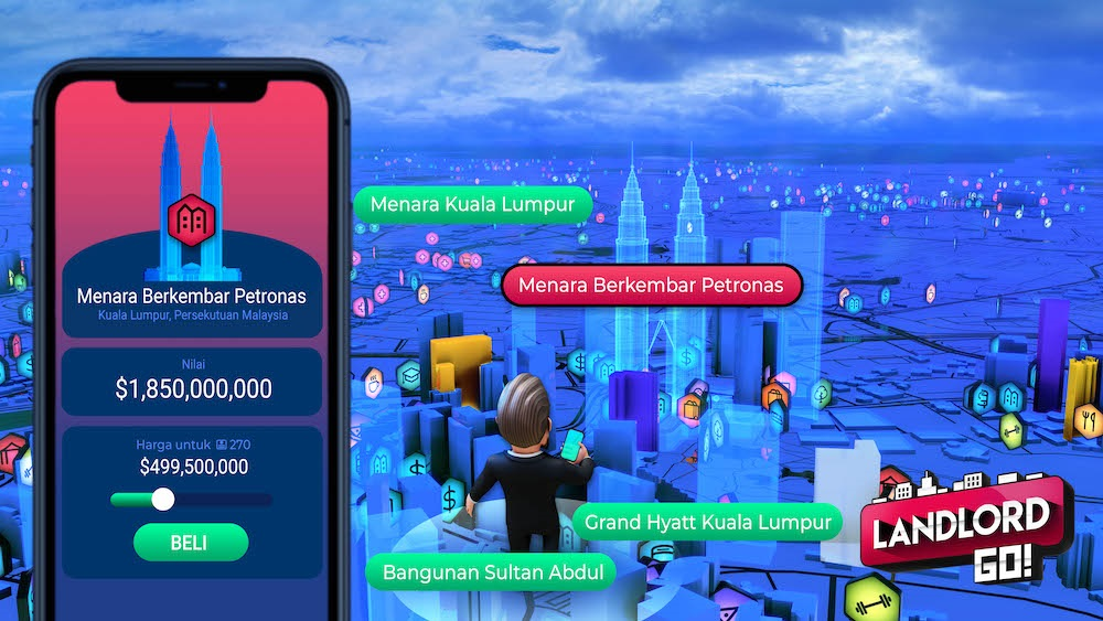 Fun AR game entices Malaysians into playing a game of virtual Monopoly