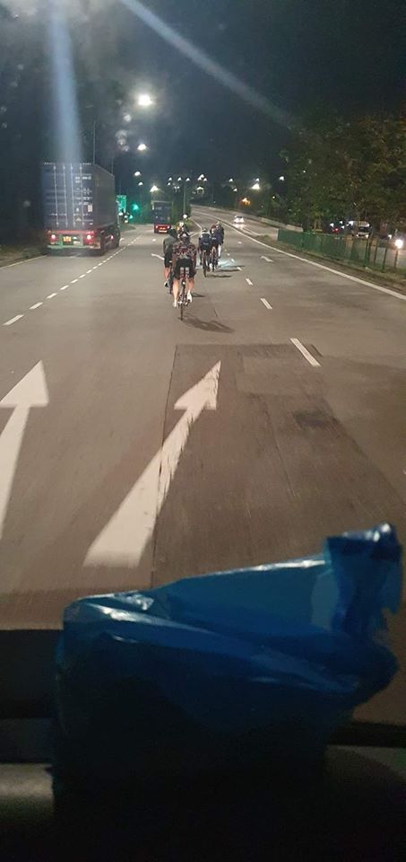 Self entitled cyclists spotted cycling in middle of road in west coast