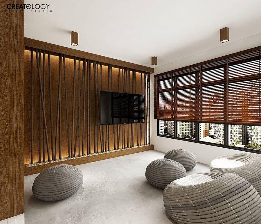 This 4-room HDB flat design is a zen ryokan with tatami