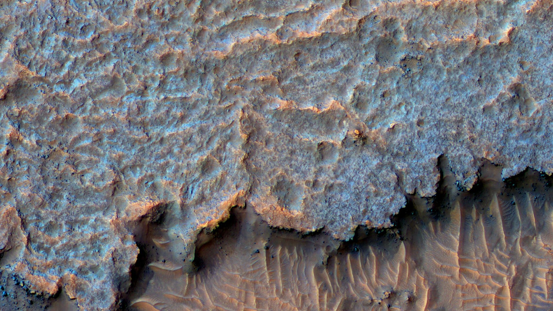 NASA puzzles over mysterious Mars ridges billions of years in the making