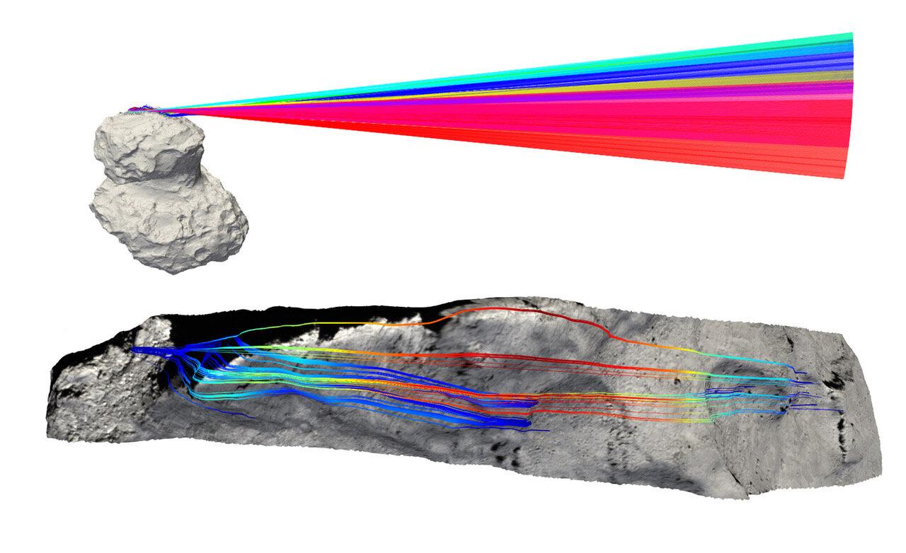 Rainbow comet with a heart of sponge