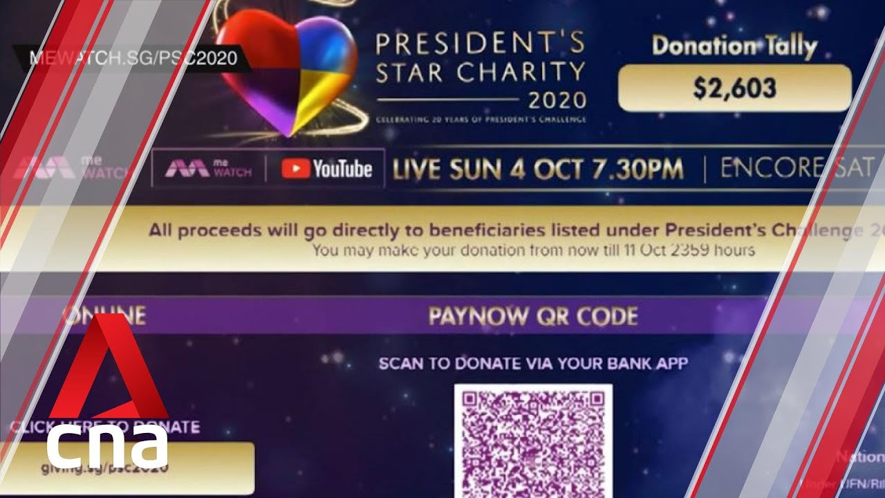 President's Star Charity: Live show on Oct 4, donations via PayNow encouraged