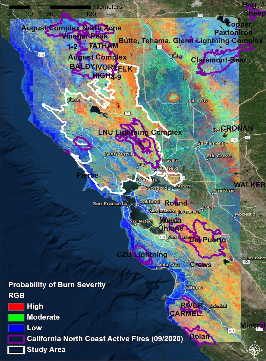 High-Severity Wildfires on the Rise in Northern California's Coastal Ranges Since 1984