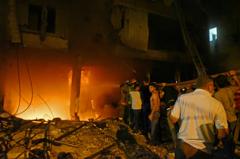 Four dead in Beirut fuel tank fire and blast