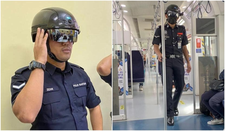 """""""Robocop"""" Shows Up At KTM As Auxiliary Police Wear Temperature Scanner Helmets"""