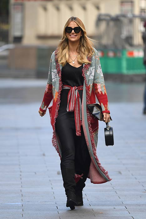 Vogue Williams's colour clashing skirt is on our wish list