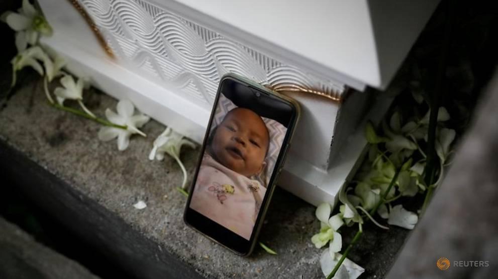 Jailed Philippine activist lays to rest her 3-month-old baby