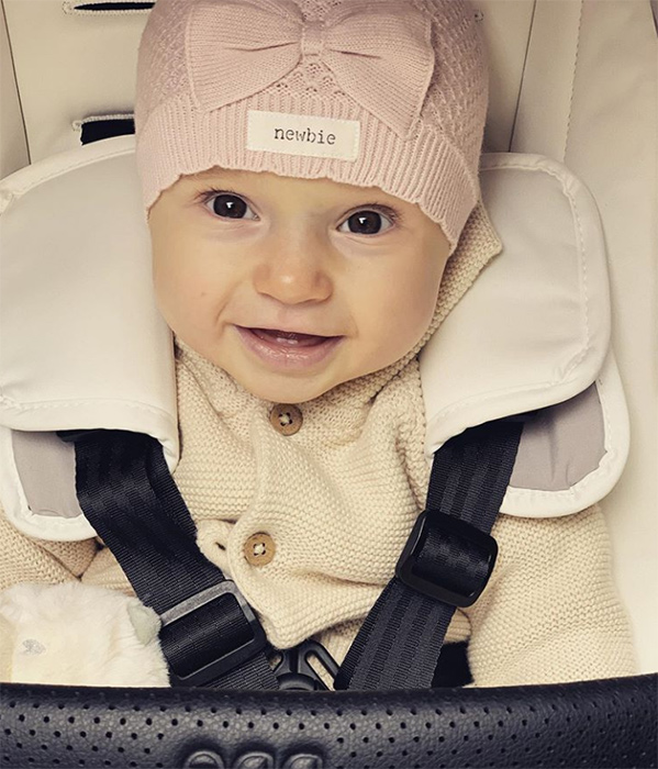 James Jordan shares sweetest must-see video of baby Ella out shopping!