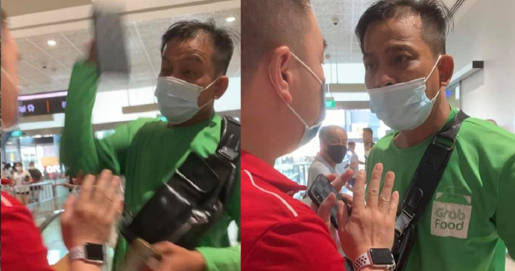 Food delivery rider assaults man & cuts queue to collect food at AMK hub