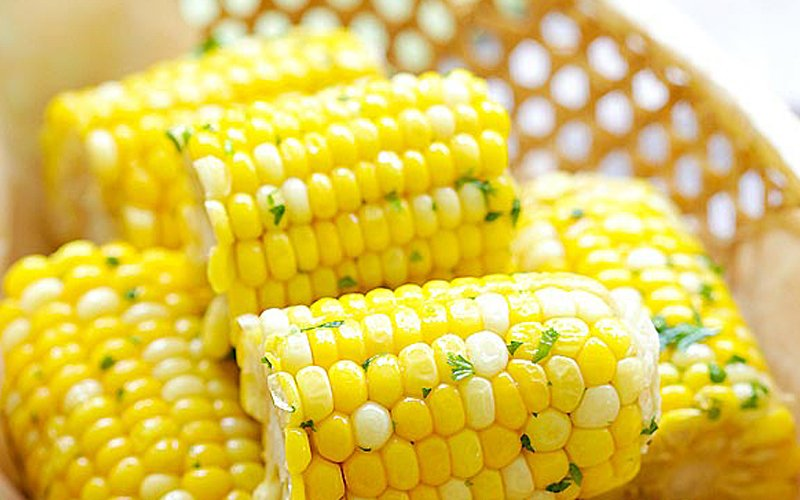 Honey-butter corn – sticky sweet and luscious