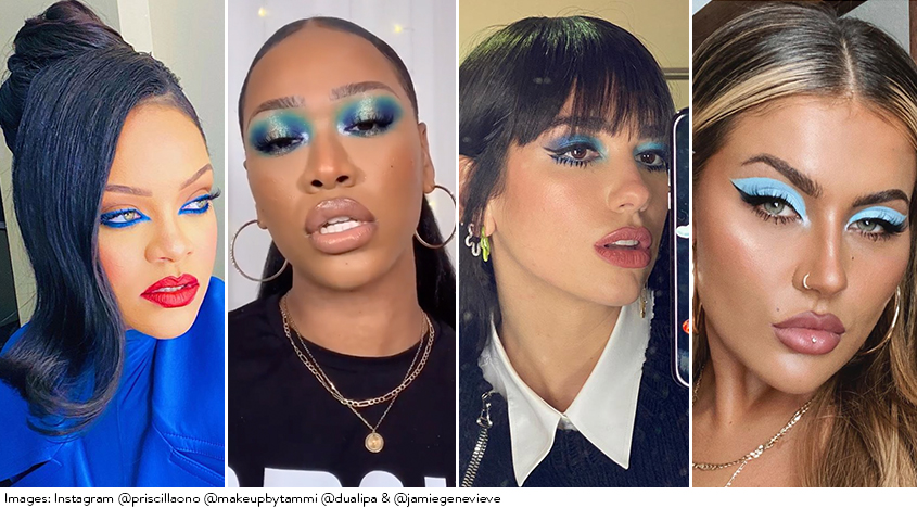 Blue makeup is everywhere RN; here's how to wear it