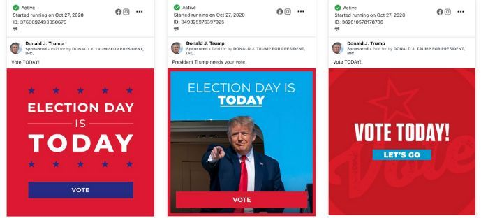 Facebook let trump launch new political ads after ban went into effect